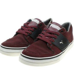 PUMA LIFESTYLE Womens Burgundy Lace-up Sneakers